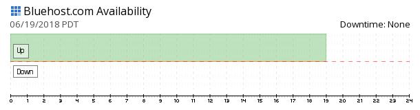 Bluehost availability chart