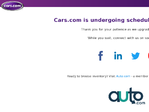 Cars.com outage screenshot taken on 10/08/2017 00:00:55