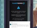 PlanetRomeo outage screenshot taken on 03/04/2017 12:41:57