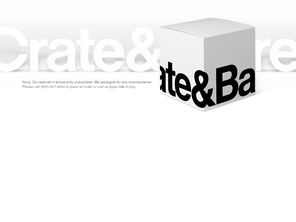 crate and barrel down current status and outage history