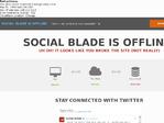 SocialBlade outage screenshot taken on 02/20/2017 12:40:55