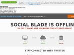 SocialBlade outage screenshot taken on 04/07/2017 10:24:13