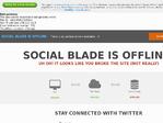 SocialBlade outage screenshot taken on 10/05/2017 12:17:07