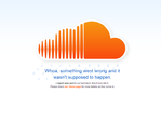 SoundCloud outage screenshot taken on 07/26/2014 00:30:43
