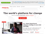 Change.org outage screenshot taken on 03/30/2016 11:31:17