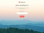 Issuu outage screenshot taken on 01/06/2016 07:30:44