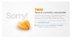Twoo outage screenshot taken on 02/28/2017 06:50:56