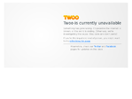Twoo outage screenshot taken on 06/23/2017 00:16:04