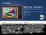 Dailymotion outage screenshot taken on 03/07/2015 05:00:33