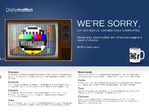 Dailymotion outage screenshot taken on 03/08/2015 08:10:24