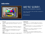 Dailymotion outage screenshot taken on 09/30/2015 04:00:20