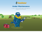 HostGator outage screenshot taken on 08/31/2017 23:02:44