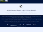 William Hill outage screenshot taken on 01/30/2018 21:47:41