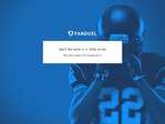 FanDuel outage screenshot taken on 08/31/2017 00:41:44