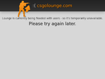 CSGO Lounge outage screenshot taken on 02/23/2016 07:41:51